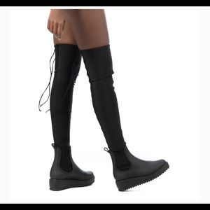 Jeffrey Campbell's monsoon thigh high boots